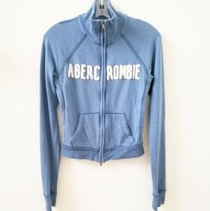 ABERCROMBIE & FITCH Blue Cotton Jacket Size Small